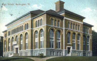 High School - Burlington, Vermont VT Postcard