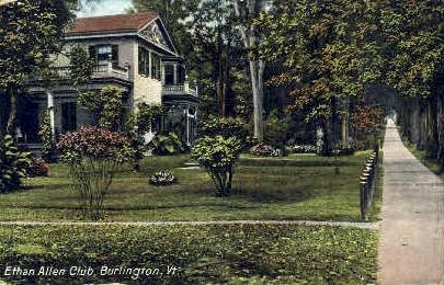 Ethen Allen Club - Burlington, Vermont VT Postcard