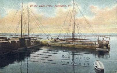 Lake Front - Burlington, Vermont VT Postcard