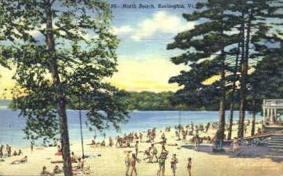 North Beach - Burlington, Vermont VT Postcard
