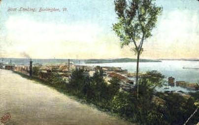 Boat Landing - Burlington, Vermont VT Postcard
