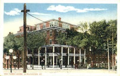 Wan Ness House - Burlington, Vermont VT Postcard