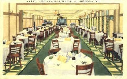 Park Caf» - Burlington, Vermont VT Postcard