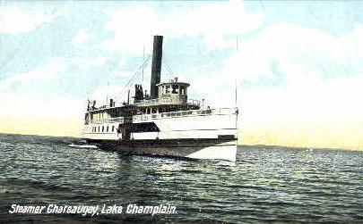 Steamer Chateaugay - Burlington, Vermont VT Postcard
