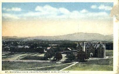 Mount Mansfield - Burlington, Vermont VT Postcard