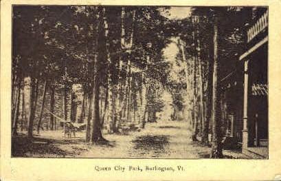 Queen City Park - Burlington, Vermont VT Postcard