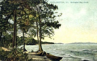 Burlington Bay - Vermont VT Postcard