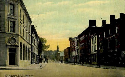 College Street - Burlington, Vermont VT Postcard