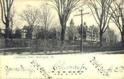 University Place - Burlington, Vermont VT Postcard