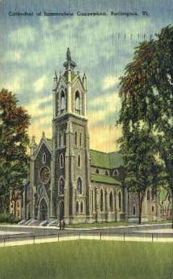 Immaculate Conception - Burlington, Vermont VT Postcard
