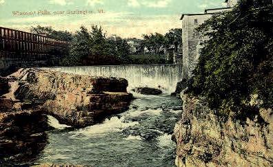 Winooski Falls - Burlington, Vermont VT Postcard