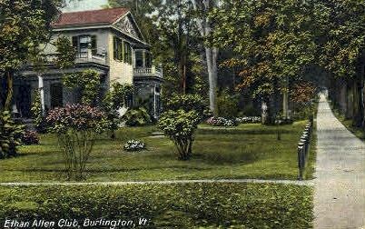 Ethan Allen Club - Burlington, Vermont VT Postcard