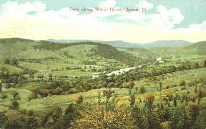 White River - Burlington, Vermont VT Postcard
