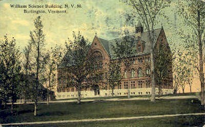 William Science Building - Burlington, Vermont VT Postcard