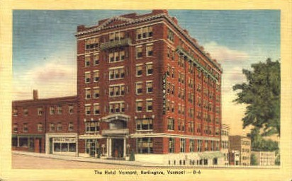 Hotel Vermont - Burlington Postcard