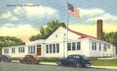 Veterans' Club - Burlington, Vermont VT Postcard