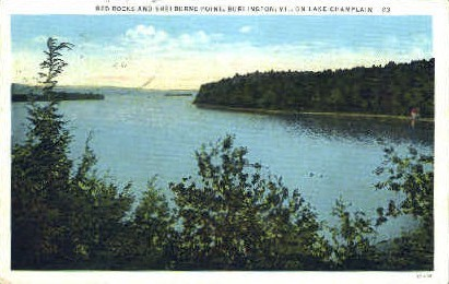 Red Rocks - Burlington, Vermont VT Postcard
