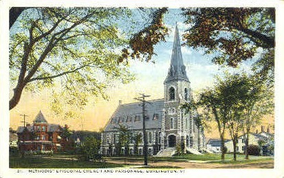 Methodist Episcopal Church - Burlington, Vermont VT Postcard