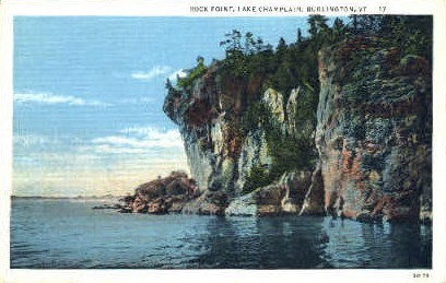 Rock Point - Burlington, Vermont VT Postcard