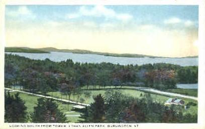 Ethan Allen Park - Burlington, Vermont VT Postcard