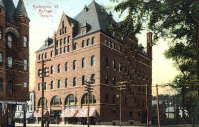 Masonic Temple - Burlington, Vermont VT Postcard
