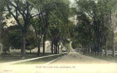 Winooski Avenue - Burlington, Vermont VT Postcard