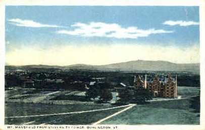 Mount Mansfield - Burlington, Vermont VT Postcard