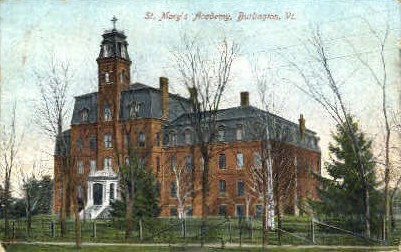 St. Mary's Academy - Burlington, Vermont VT Postcard