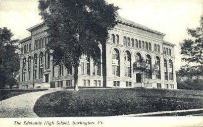 Edmunds High School - Burlington, Vermont VT Postcard