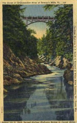 The Gorge - Burlington, Vermont VT Postcard