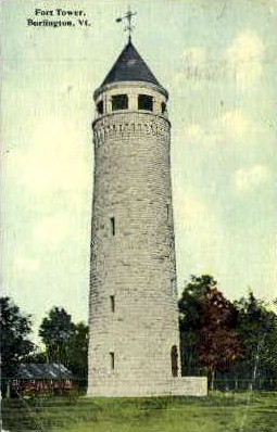 Fort Tower - Burlington, Vermont VT Postcard