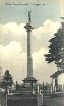 Ethan Allen Monument - Burlington, Vermont VT Postcard