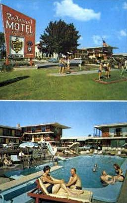 Redwood Motel - Burlington, Vermont VT Postcard