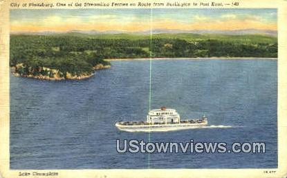 Steamline Ferries - Burlington, Vermont VT Postcard