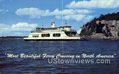 Ferry Crossing - Burlington, Vermont VT Postcard