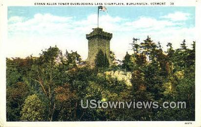 Ethan Allen Tower - Burlington, Vermont VT Postcard