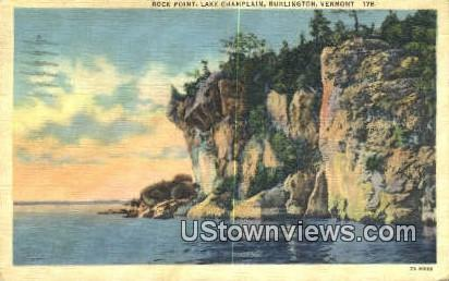 Rock Point, Lake Champlain - Burlington, Vermont VT Postcard
