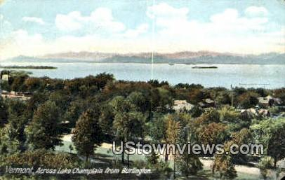 Lake Champlain - Burlington, Vermont VT Postcard