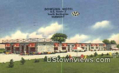 Dowling Motel - South Burlington, Vermont VT Postcard