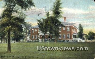 Home for Destitute Children - Burlington, Vermont VT Postcard