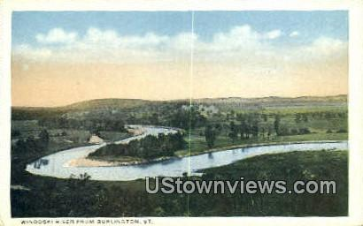 Winooski River - Burlington, Vermont VT Postcard