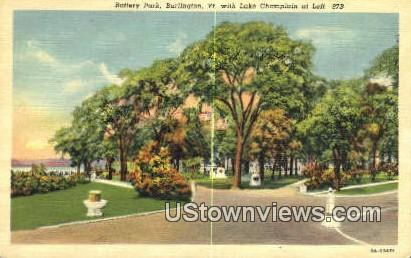 Battery Park - Burlington, Vermont VT Postcard