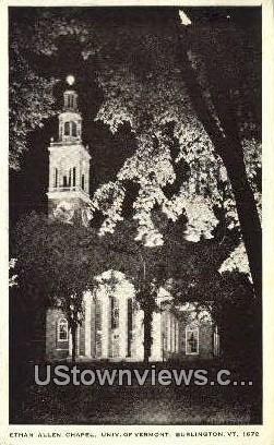 Ethan Allen Chapel - Burlington, Vermont VT Postcard