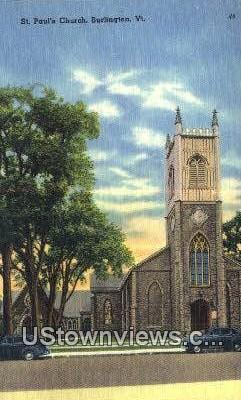 St. Paul's Church - Burlington, Vermont VT Postcard
