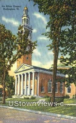 Ira Allen Chapel - Burlington, Vermont VT Postcard