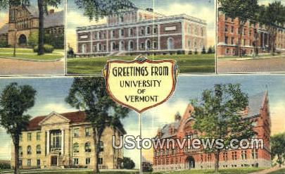 University of Vermont - Burlington Postcard