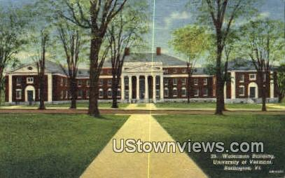 Waterman Bldg, University of Vermont - Burlington Postcard