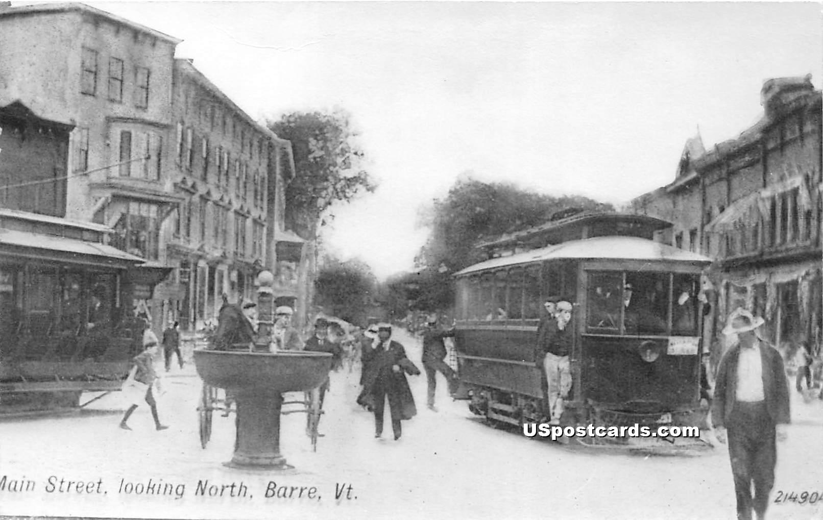 Main Street - Barre, Vermont VT Postcard