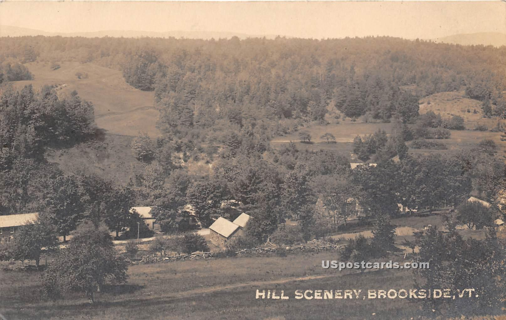Hill Scenery - Brookside, Vermont VT Postcard