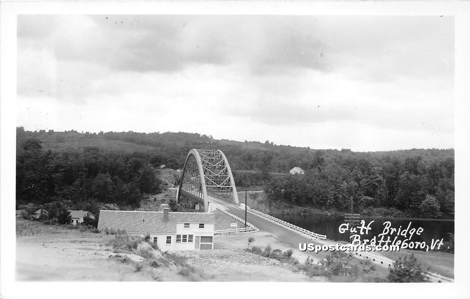 Gulf Bridge - Brattleboro, Vermont VT Postcard